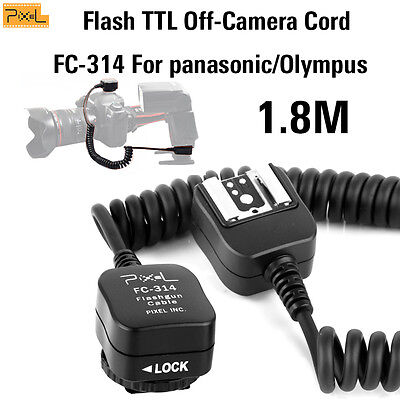 Pixel Flash TTL Off-Camera Cord FC-314/S For panasonic/Olympus hot-shoe S-1.8m