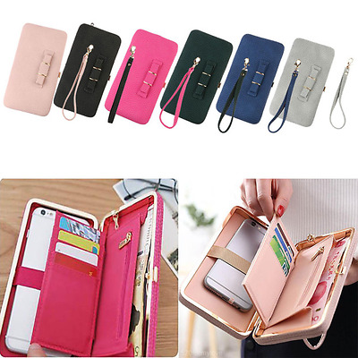 Hot Women Bowknot Wallet Purse Phone Card Holder Clutch Large Capacity Pocket