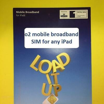 3G/4G o2 NANO SIM Apple iPad Pro/Air 1/2 Cellular Data/02/PAYG Mobile Broadband
