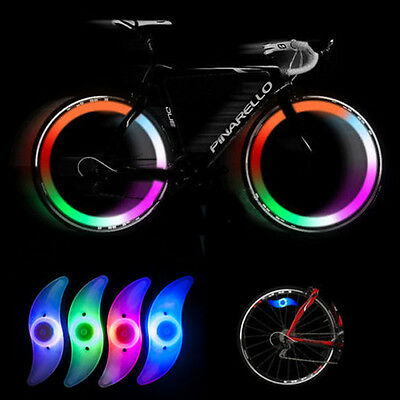 4 pcs Colourful Bike Bicycle Cycling Wheel Spoke Tire Wire Tyre LED Light Lamps