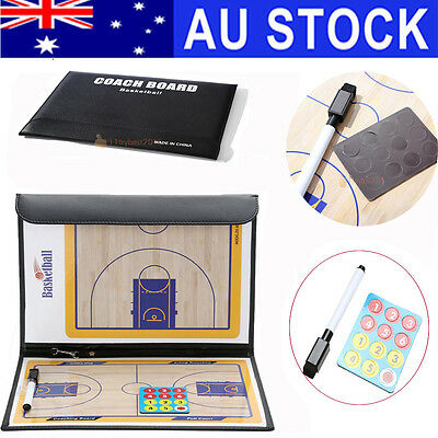 Basketball Tactic Coaches Erase Play Board Double Erasable Sided Tactic Board AU