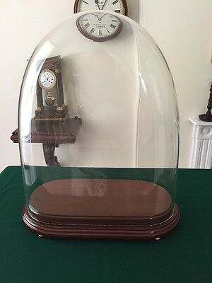 Antique Glass Dome and Mahogany Stand