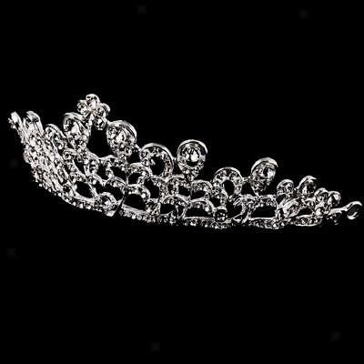 Elegant Bridal Wedding Tiara Crystal Rhinestone Flower Headband Headdress