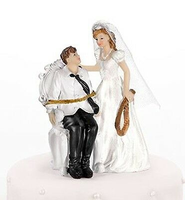 Groom Tied Up to Chair Comical Cake Topper 11cm Tall XP053