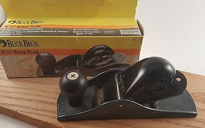 Buck Bros 6 1/2'' Block Plane  Hardwood and Tempered cutter in Original Box