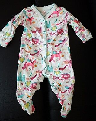 Unicorn sleepsuit babygrow 0-3 months NEXT baby girl