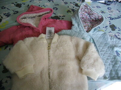 baby girls coats jackets mothercare 3-6 months bnwt/gc
