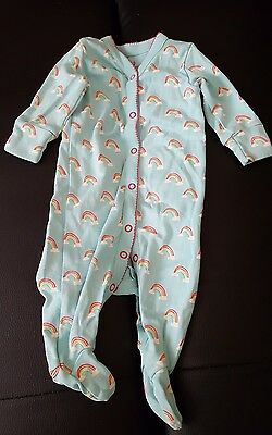 Rainbow sleepsuit babygrow 0-3 months NEXT baby girl