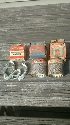Lot of 2 Perfection stove wicks. 331-X NEW NOS + asbesto-weave kindlers