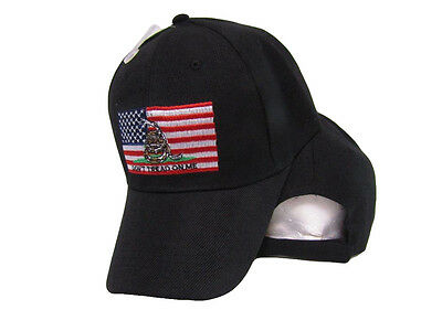 a0161e31c USA GADSDEN DON'T Tread On Me American Patch Black Embroidered Cap (RAM) Hat
