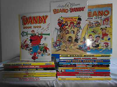 Job lot of Annuals 22 in total - Beano,and Dandy. All except 1 perfect condition