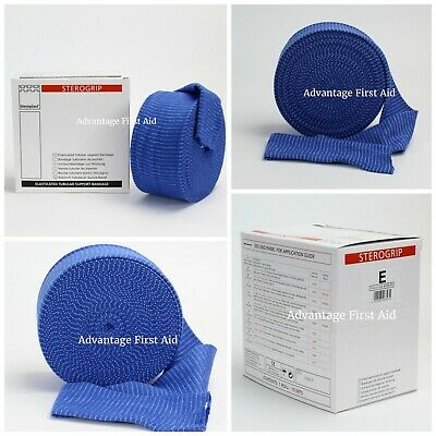 Elasticated Tubular Support & Compression Bandage. Blue Catering / Kitchen Use.