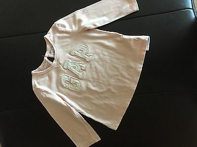 Gap baby girl pink cotton long sleeves top- size 12-18 M