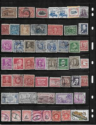 Old  US Used STAMPS Assortment. Lots of CV $$$$!-LOT # 01717