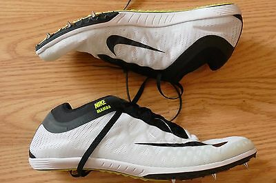 Nike Mamba 3 Distance White Black Track & Field spikes Mens Size 9 706617-106