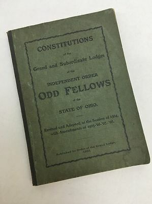 Odd Fellows 1908 Constitution Grand And Subordinate Lodges State Of Ohio