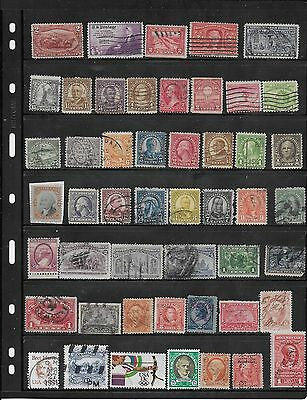 Old  US Used STAMPS Assortment. Lots of CV $$$$!-LOT # 01717c
