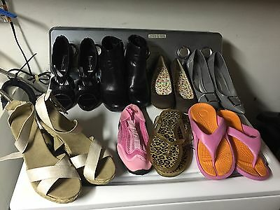 Lot Of Womens Shoes And Sandals - 8 Pairs   Size 7  New