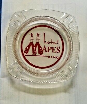 MAPES HOTEL ( ANIMATED 2 MAN LOGO )  RENO glass ASHTRAY