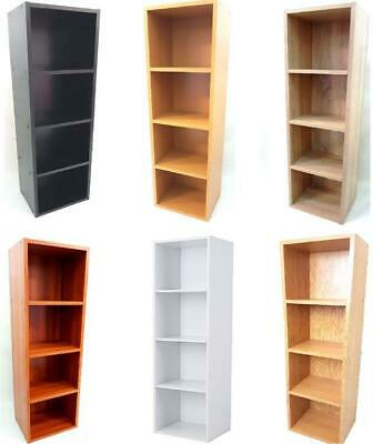 New Display Shelves Storage Bookshelf 4 Level Tier Bookcase Stand Rack Unit Cube