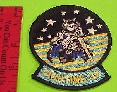 Fighting 32  Tomcat U.s. Navy  Military Patch  New  Free Shipping !!!