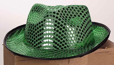 Green Sequined Fedora Irish St. Patty's Day St. Patrick's