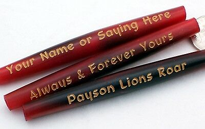 Red Horn Hairpipe 3 inch  Beads - 76 mm - Custom Engraved - 2.75 mm Hole