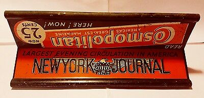 Antique NY NEWS PAPER WEIGHT 3 SIDED NEW YORK JOURNAL Magazine Stand WIND Topper