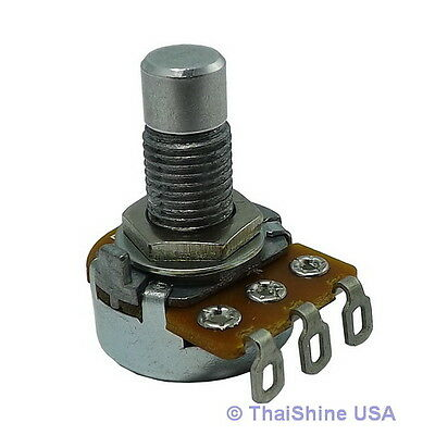 2 x 10K OHM Linear Taper Potentiometer Round Shaft Solder Lugs - USA Seller