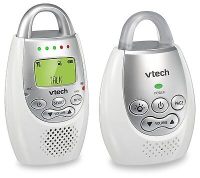Baby Monitor Safe Sound Digital Rechargeable Batteries Audio VTech DM221 White