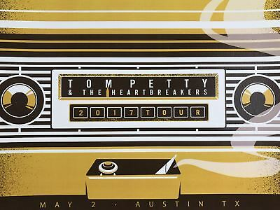 Tom Petty - 2017 poster VIP tour Austin, Texas numbered/500