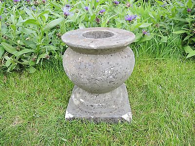Small Antique Marble Stone  Garden Urn  25 cm high  (613d)