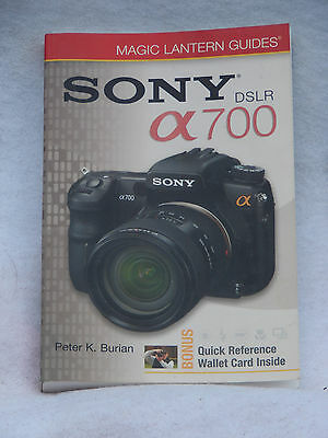Sony DSLR A 700 Magic Lantern Guides Hand Holdable Book Easy Reference