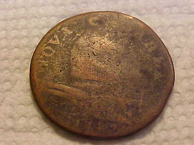 1787 New Jersey Colonial Copper Coin Weak but Visible Date nice  Colonial Coin