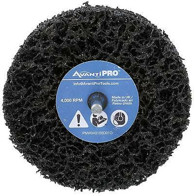Non-Woven Drill Mount Quick-Strip Disc Accessory Wire Wheel 2-Pack 4 In x1 In