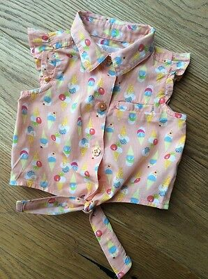 Baby M&Co Baby Girl T-shirt Shirt Top Ice Cream Size 3-6months