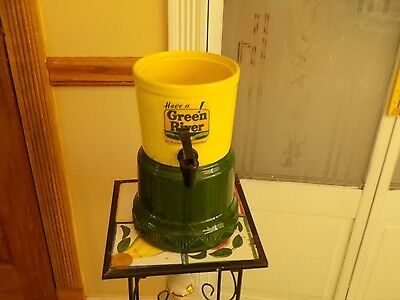 Vintage Green River Shake, Sunday Fountain Dispenser