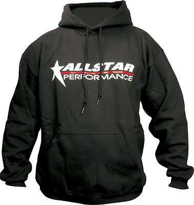 Allstar Performance Black Hooded Allstar Logo X-Large Sweatshirt P/N 99913XL