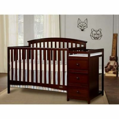 Dream On Me Niko 5 in 1 Convertible Crib Changer Infant Childhood Toddler Bed