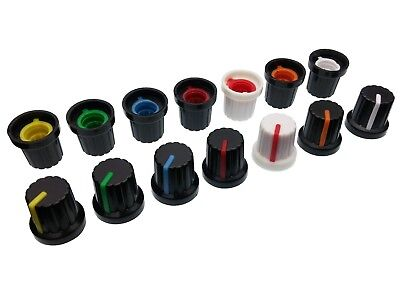 8 Colours Plastic Pot Knobs for 6mm Potentiometer / Rotary Switch / Encoder