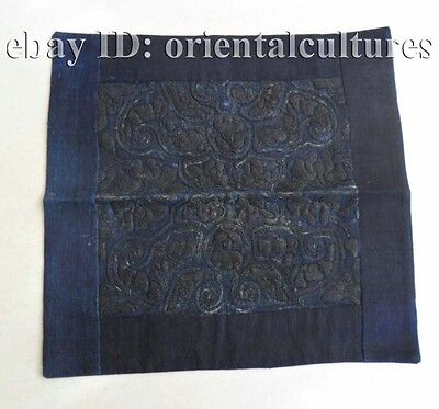 Exotic chinese tribe miao people's old hand embroidery
