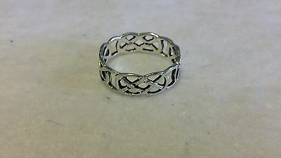 Celtic  Sterling Silver Ring Band Unique Celtic  Pattern Ring unisex