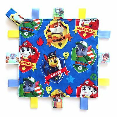 Paw Patrol Mini Size Taggie Security Blanket Toy comforter dummy clip holder
