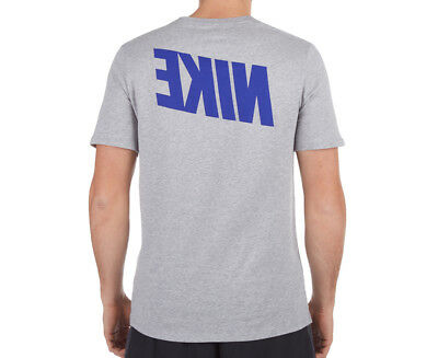 Nike Men's Mirror Tee - Grey Heather/Blue