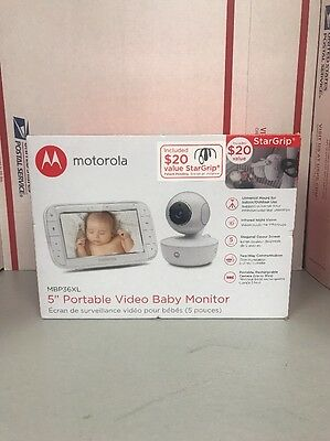 "Motorola MBP36XL 5"" Portable Video Baby Monitor SAVE BIG $$$$ NIB!!!!"