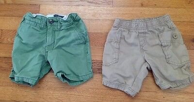 lot of 2 baby toddler boy shorts size 18-24 months