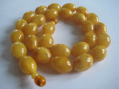 Oliven-Bernsteinkette Olive Egg Yolk Amber Necklace Butterscotch