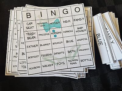 Baby Shower Bingo Game - Gender Boy. Several pack sizes available