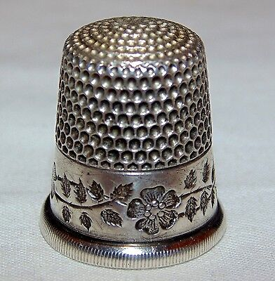 Pair of Antique Sterling Silver Thimbles.