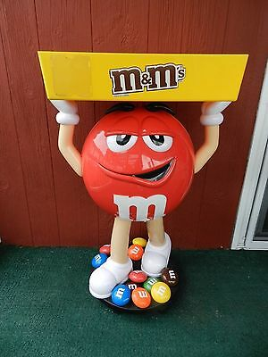 Rare Not Sold In Stores- Red M&M Candy Character Large Store Display